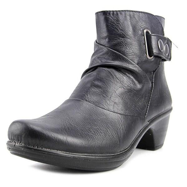 Easy Street Wynne Women Round Toe Synthetic Black Ankle Boot