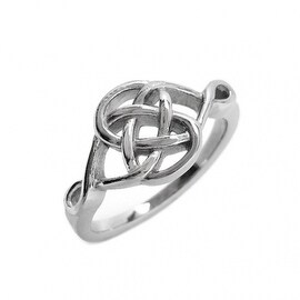 Loralyn Designs Stainless Steel Celtic Knot Ring (Sizes 5-10)