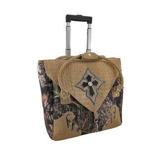 Forest Camo Handbag Style Rolling Carry On Bag w/Padded Laptop Pouch