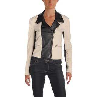 Theory Womens Petites Motorcycle Jacket Fall Leather - p
