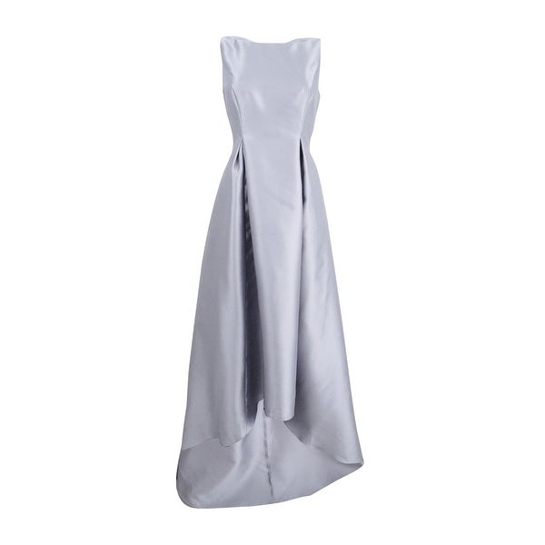 92d89c15 Shop Adrianna Papell Women's High-Low Ball Gown - Silver - On Sale - Free  Shipping Today - Overstock - 27215123