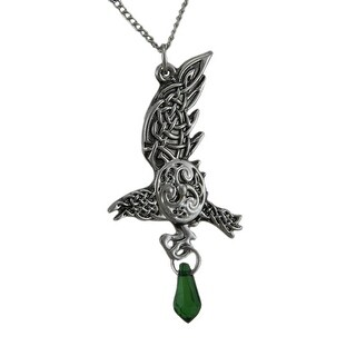 Bran's Raven Pendant / Necklace For Bravery Evermore - Silver