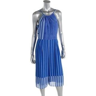 Cynthia Steffe Womens Chiffon Printed Jumpsuit