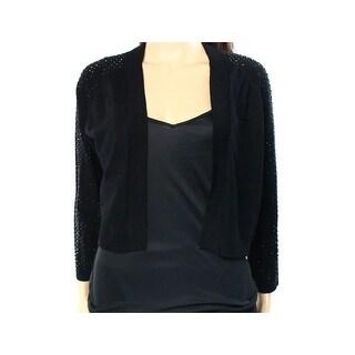 Calvin Klein NEW Black Womens Size Large L Embellished Cardigan Sweater