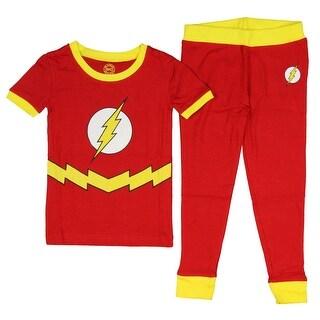 Intimo DC Comics Little Boys' Flash Short Sleeve 2 Piece Sleep Set