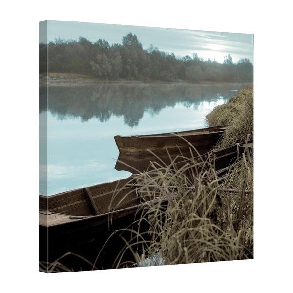Easy Art Prints Alan Blaustein's 'French Boats #1' Premium Canvas Art