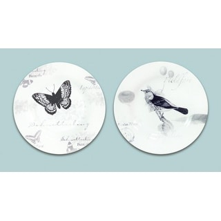 """Pack of 6 Garden Party Print Dolomite Plates 8"""""""