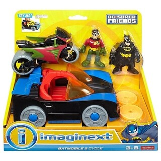 Fisher Price Imaginext DC Super Friends Batmobile and Cycle