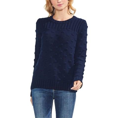 Vince Camuto Womens Pullover Sweater Popcorn Stitch Crewneck