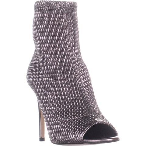 BCBGeneration Jane Peep Toe Ankle Boots, Gunmetal