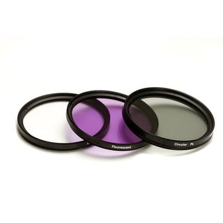 HD Multi-Coated 72mm 3 Piece Filter Set (UV, CPL, FLD) + Pouch