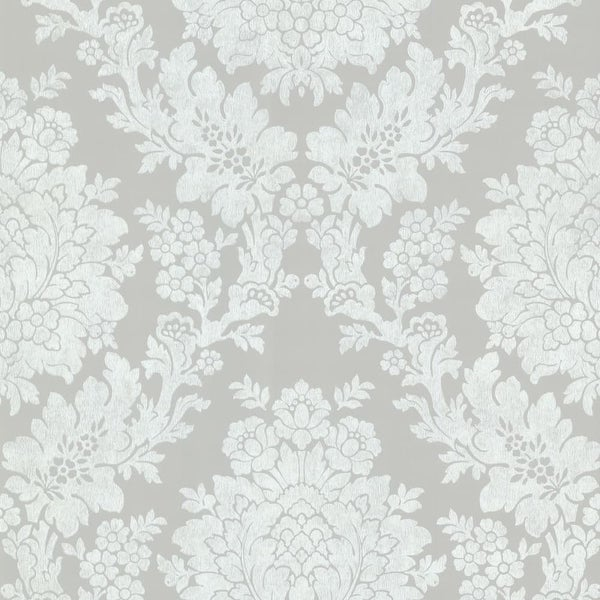 Brewster 344 68716 Liza Grey Roselle Damask Wallpaper
