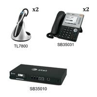 ATT SB35010 Plus 2x SB35031 Plus 2x TL7800 SB35010 With 2 Multi-Line  5inch LCD Screen Desksets with 2 Cordless  headsets