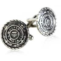 USCG Coast Guard Cufflinks Silver Military