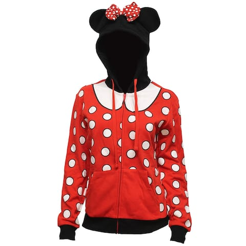 Disney Juniors Minnie Mouse Costume Hoodie with Ears and Bow