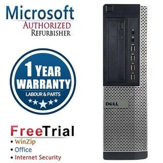 Refurbished Dell OptiPlex 7010 Desktop Intel Core I5 3450 3.1G 4G DDR3 1TB DVDRW Win 7 Pro 64 Bits 1 Year Warranty - Black