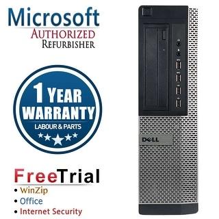 Refurbished Dell OptiPlex 7010 Desktop Intel Core I5 3450 3.1G 4G DDR3 250G DVDRW Win 7 Pro 64 Bits 1 Year Warranty - Black