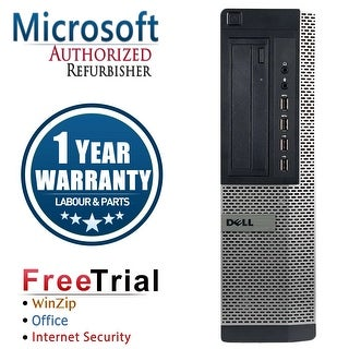Refurbished Dell OptiPlex 7010 Desktop Intel Core I5 3450 3.1G 8G DDR3 320G DVDRW Win 10 Pro 1 Year Warranty - Black