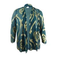 MSK Women's Open Front Metallic Chiffon Jacket