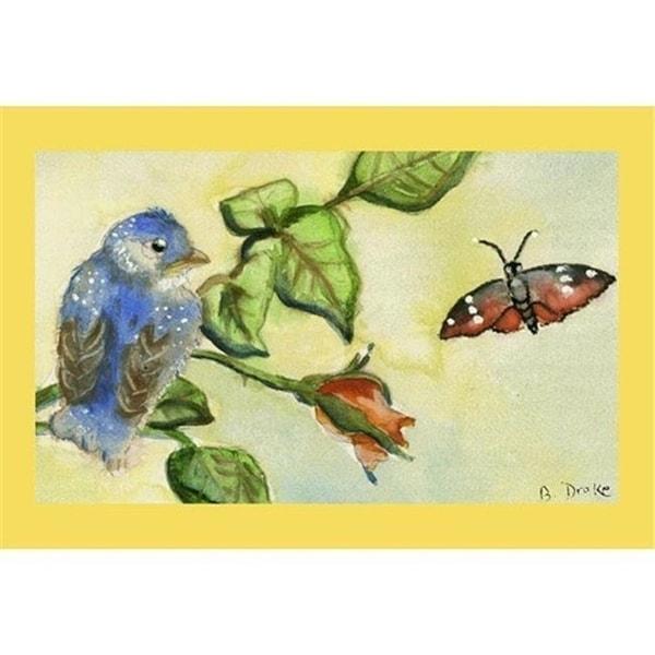 "Betsy Drake DM249 Bluebird Door Mat 18""x26"""