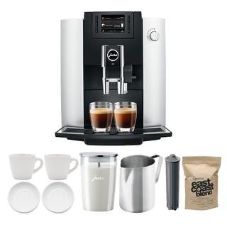 Jura 15070 E6 Coffee Center (Platinum) with Milk Container Bundle