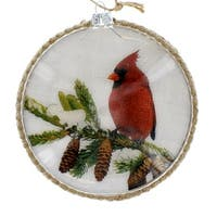5 Inch Cardinal Disc Ornament