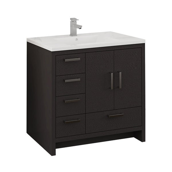 """Fresca FCB9436-L-I Senza 36"""" Free Standing Single Basin Vanity Set with MDF Cabinet and Acrylic Vanity Top"""