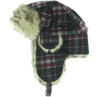 City Hunter Faux Fur Plaid Trapper Hat