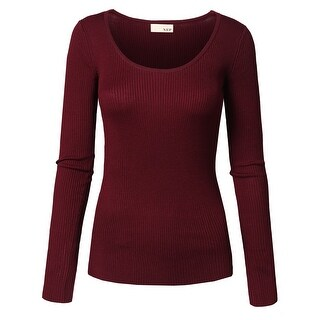 NE PEOPLE Women's Ribbed Round Neck Slim Fit Sweater Top [NEWT718] (More options available)
