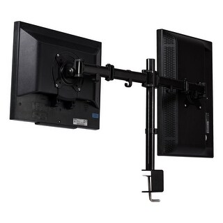 Costway Steel Dual Monitor Arm Desk Table Mount Stand 2 LCD Fully Swivel Clamp up to 27''