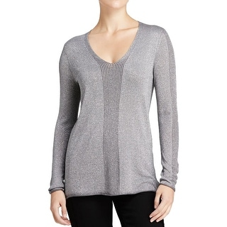 NYDJ Womens Knit Top Knit Metallic