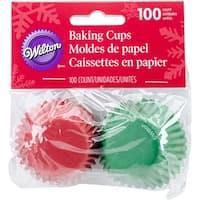 Mini Baking Cups-Green 100/Pkg