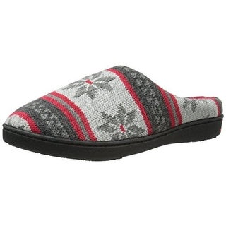 Isotoner Womens Knit Memory Foam Novelty Slippers - L