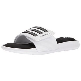 Adidas Mens Superstar Slide, White/Black/White