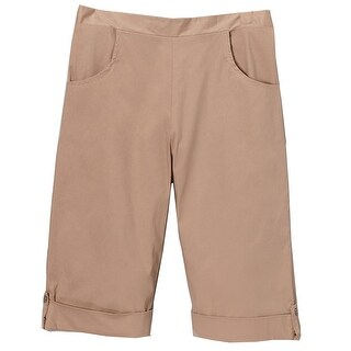 Little Girls Khaki Flat Front School Uniform Capri Short Pants 4