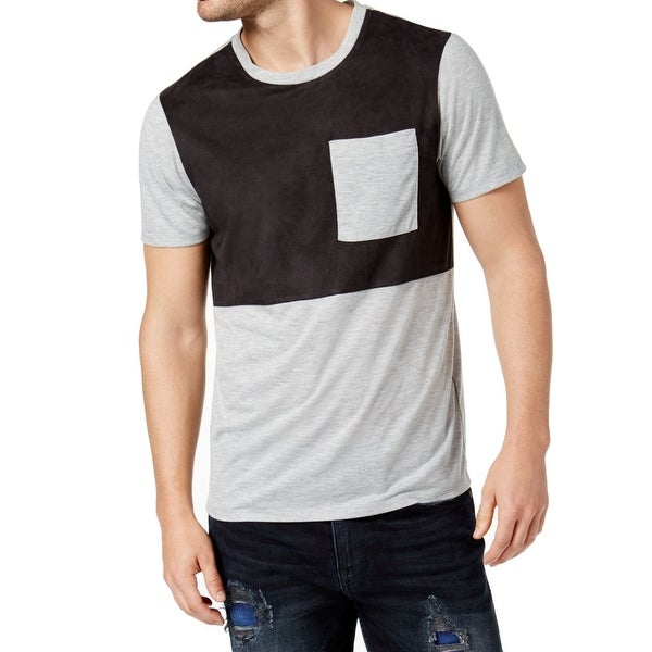7e1871520f08 Shop Guess Black Mens Colorblock Pocket Crewneck Tee T-Shirt - On Sale -  Free Shipping On Orders Over $45 - Overstock - 26901552