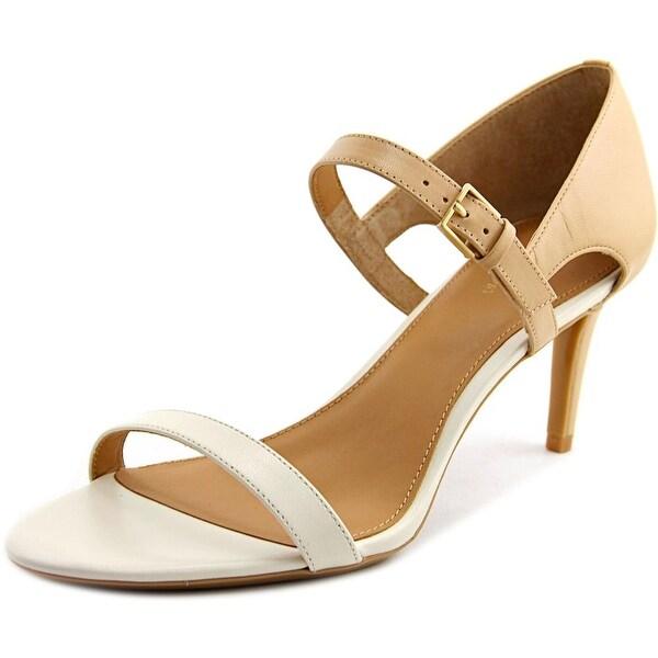 Calvin Klein Luigina Women Open Toe Leather Nude Sandals