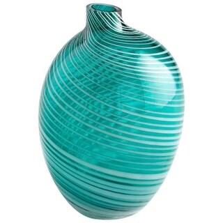 Cyan Design Small Prague Vase Prague 8 Inch Tall Glass Vase - Teal
