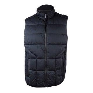 Calvin Klein Men's Colorblocked Puffer Vest (XL, Black) - Black