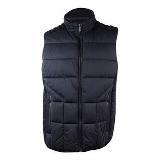 Calvin Klein Men's Colorblocked Puffer Vest (XL, Black) - Black - XL