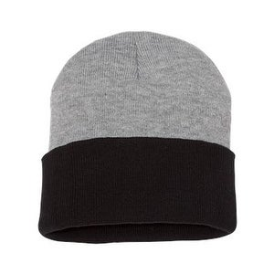 Shop Sportsman 12 Inch Knit Beanie - Heather  Black - One Size - Free  Shipping On Orders Over  45 - Overstock.com - 16251193 b1350ffd7138