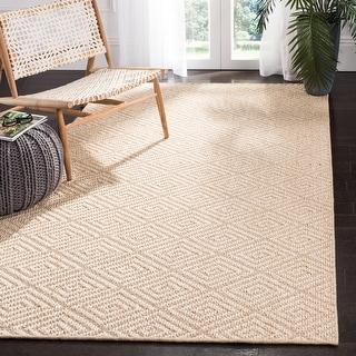 Link to SAFAVIEH Palm Beach Katzue Modern Sisal Rug Similar Items in Patterned Rugs