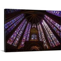 Premium Thick-Wrap Canvas entitled France, Paris, La Sainte-Chapelle interior
