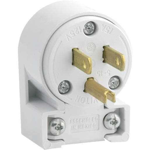 shop leviton 15a wht 3-wire cord plug 020-515an-00w unit: each - free  shipping on orders over $45 - overstock - 17505895