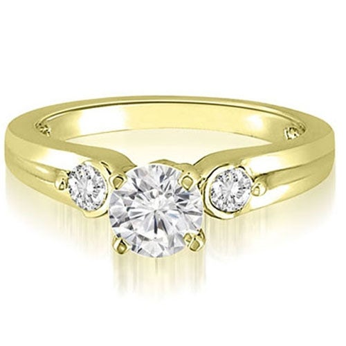 0.70 cttw. 14K Yellow Gold Three-Stone Round Cut Diamond Engagement Ring