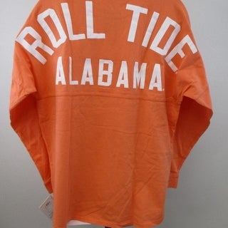 NCAA Alabama Crimson Tide Womens Sizes XS S M Orange Shirt