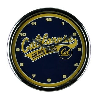 University of California Berkeley Golden Bears Wall Clock Chrome Finished Frame - Blue