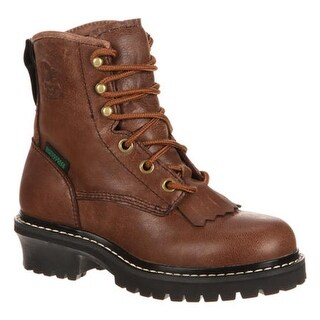 "Georgia Boot Children's GB00019 5"" Adolescent Logger Brown Goat Skin"