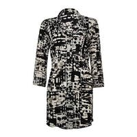 Style & Co Women's Button Down A-Line Pleated Blouse - global beat