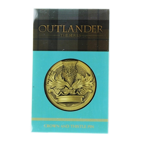 "Outlander Crown & Thistle 1.75"" Lapel Pin"